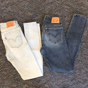 Bundle of 2 pairs of Levi's 710 super skinny jeans